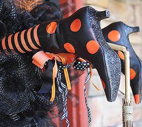 wreaths halloween decorations witch legs door crafts halloween decorations seasonal holiday decor
