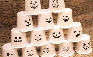 recycled k cup halloween lights, halloween decorations, repurposing upcycling, seasonal holiday decor