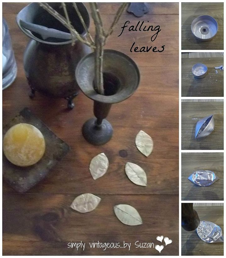 crafts metal leaves tutorial easy, crafts, painting, repurposing upcycling