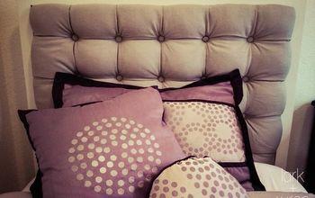 diy tufted headboard tutorial, bedroom ideas, diy, how to, reupholster