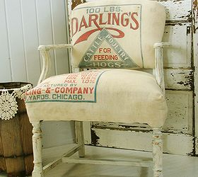 Upholstery Antique Chair Feed Sack Makeover, Painted Furniture, Repurposing  Upcycling, Rustic Furniture,