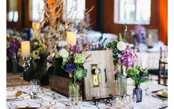 DIY Rustic Wedding Reception Table Numbers