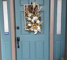 repurpose soil shaker fall door decor seasonal holiday decor Door happiness Shape matches my & $1 Old Screened Soil Shaker-Now Fall Front Door Decor! | Hometalk