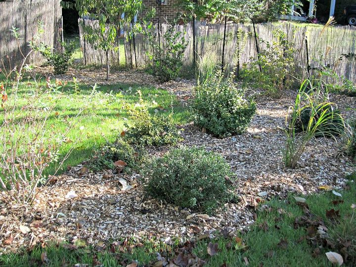 landscaping free material rocks wood chips, curb appeal, gardening, landscape