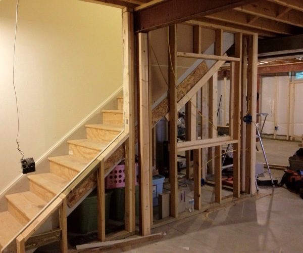 basement ideas remodel progress industrial, basement ideas, home improvement