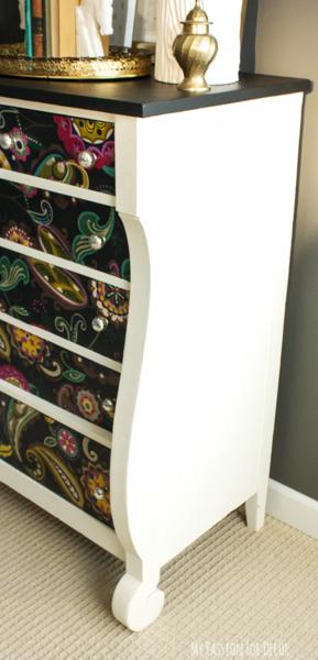 Decoupage Dresser Mod Podge Fabric Makeover Chalk Paint Home Decor Painted