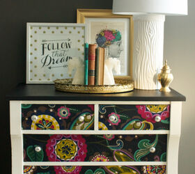 Decoupage Dresser Mod Podge Fabric Makeover, Chalk Paint, Decoupage, Home  Decor, Painted