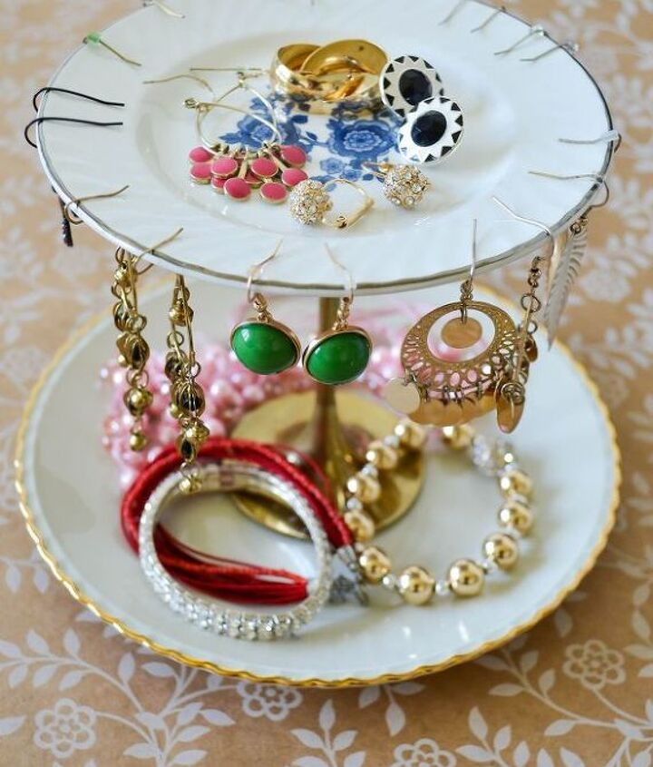 diy upcyle jewelry stand, crafts, organizing, repurposing upcycling