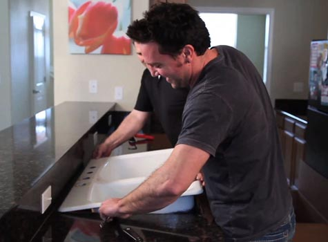 how to install a kitchen sink, how to, kitchen design, plumbing