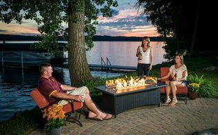 landscaping fire pits whats hot, outdoor living, Fire Pit Glass Guards