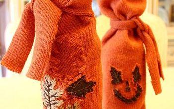 Fall Sweater Wine Bags