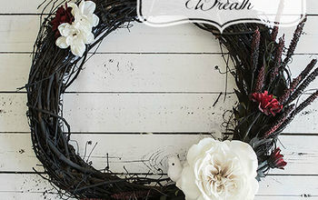 gothic inspired halloween wreath tutorial, crafts, halloween decorations, how to, seasonal holiday decor, wreaths