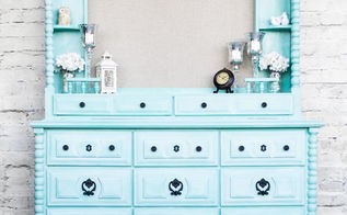 white washed dresser re do, chalk paint, painted furniture