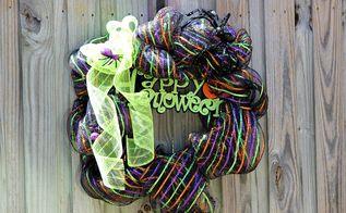 wreaths halloween decorations deco mesh, crafts, halloween decorations, seasonal holiday decor, wreaths