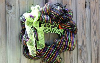 Happy Halloween Deco Mesh Wreath
