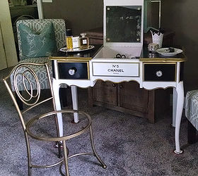 Painted Furniture Vanity Chanel Number Five, Bathroom Ideas, AFTER
