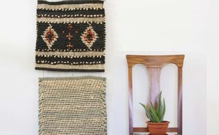 wall decor woven easy hanging, crafts, home decor, how to, wall decor