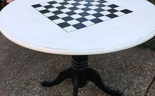 how to paint checkerboard table, painted furniture