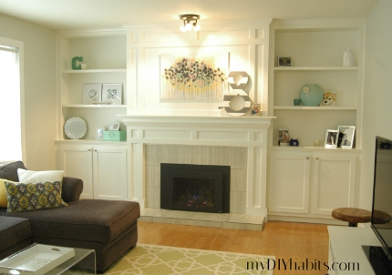 Our transformed fireplace before after hometalk our transformed fireplace before after diy fireplaces mantels living room ideas shelving solutioingenieria Images