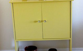 painted furniture yellow thrift store transformation, bathroom ideas, diy, painted furniture, repurposing upcycling, shabby chic
