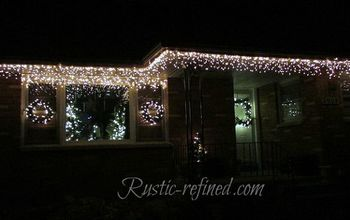 Hang Outdoor Holiday Lights Quickly Tutorial