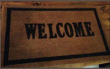 Pottery Barn Inspired Welcome Doormat!