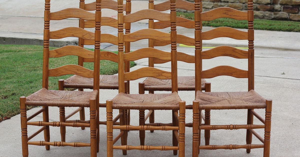 ladder ladderback back chairs oak solid pubstore chair pub irish