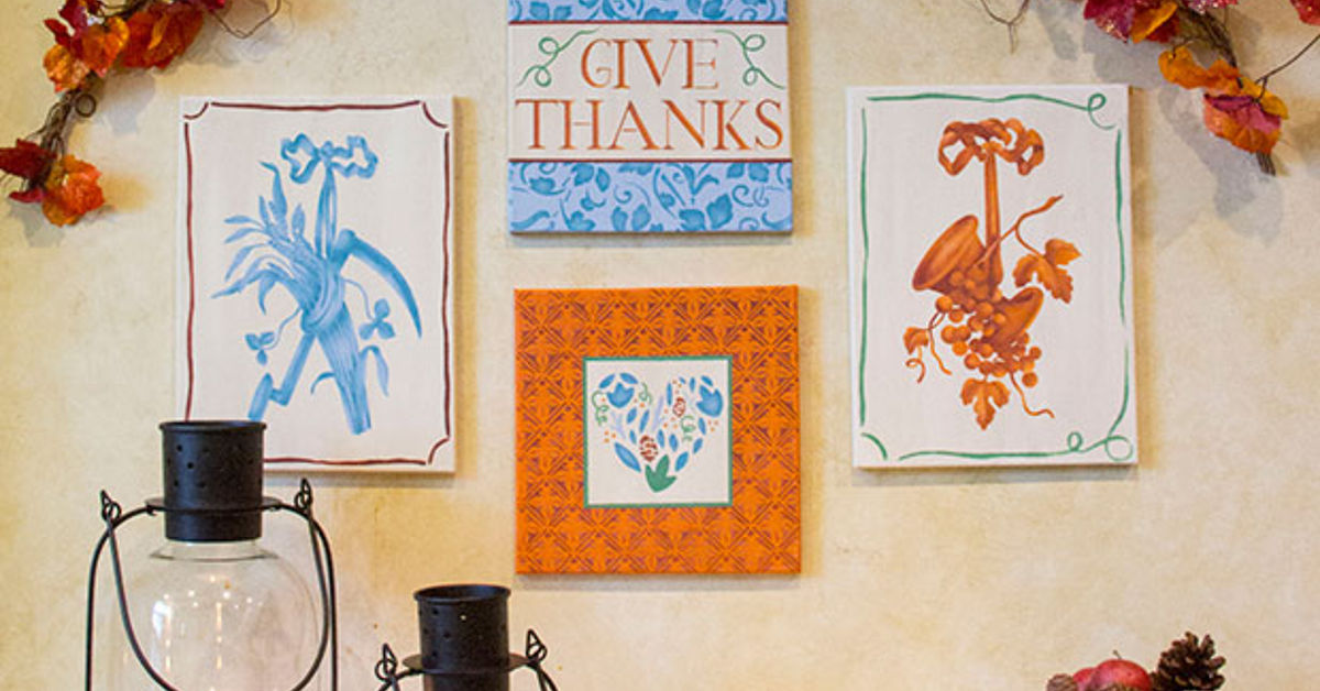 Thanksgiving DIY: Stencil a Fall Gallery Wall | Hometalk