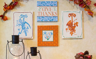 thanksgiving diy stencil a fall gallery wall, crafts, seasonal holiday decor, thanksgiving decorations