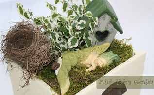 mini fairy garden, crafts