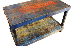 home decor coastal themed party table, painted furniture