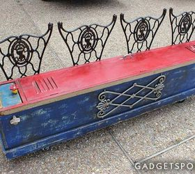 Repurposed Vintage Red Locker Storage Bench, Painted Furniture, Repurposing  Upcycling, Storage Ideas