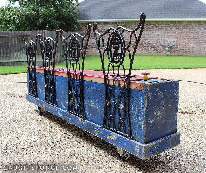 repurposed vintage red locker storage bench, painted furniture, repurposing upcycling, storage ideas