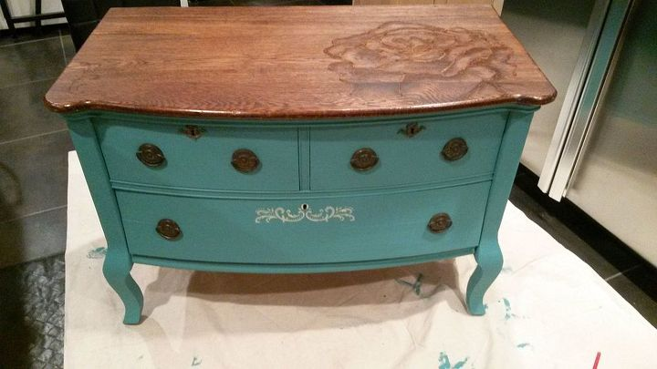 Chalk Paint And Stain Painted Dresser