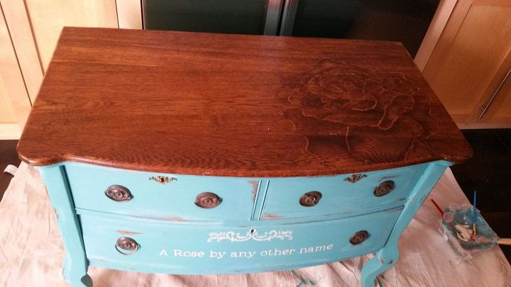 Chalk Paint And Stain Painted Dresser Hometalk