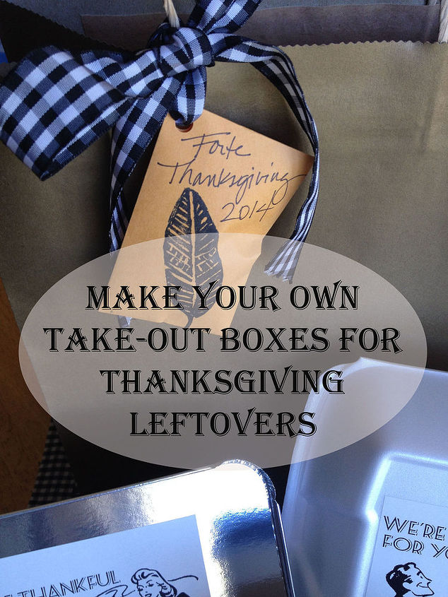 make your own take out boxes for thanksgiving, crafts, seasonal holiday decor, thanksgiving decorations
