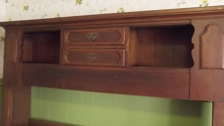 How I Re Purposed A Bookcase Headboard Into Keepsake Hutch Diy Painted Furniture