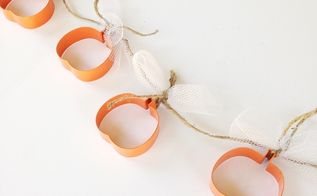 how to pumpkin garland decor, crafts, how to, seasonal holiday decor