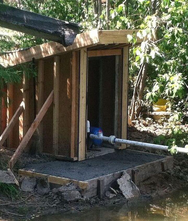 how to concrete pump house, concrete masonry