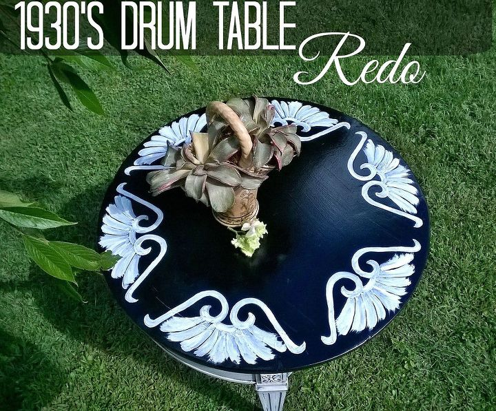 how to create 1930s drum table, diy, home decor, painted furniture, woodworking projects