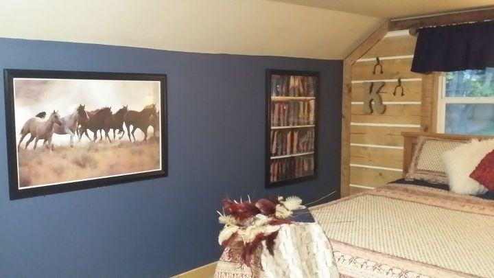 horse themed girls bedroom makeover inspiration, bedroom ideas, home decor, wall decor, woodworking projects