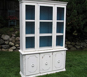 Updating Old Hutch With White Paint Chicken Wire, Painted Furniture,  Repurposing Upcycling, Shabby