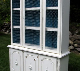 Beautiful Updating Old Hutch With White Paint Chicken Wire, Painted Furniture,  Repurposing Upcycling, Shabby