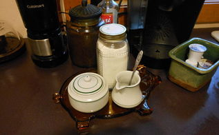 create a coffee station for less, kitchen design, Grouping for the coffee fixings