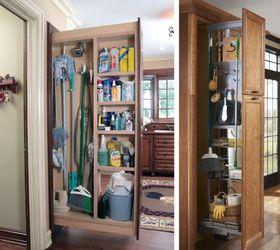 Broom Closet Organization Ideas, Cleaning Tips, Closet, Organizing
