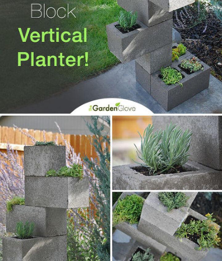 how to make cinder block vertical planter, container gardening, diy, gardening, repurposing upcycling