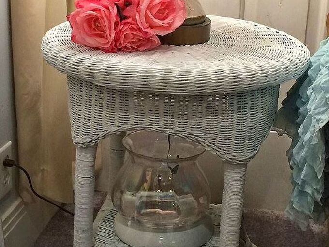 wicker furniture makeover, painted furniture