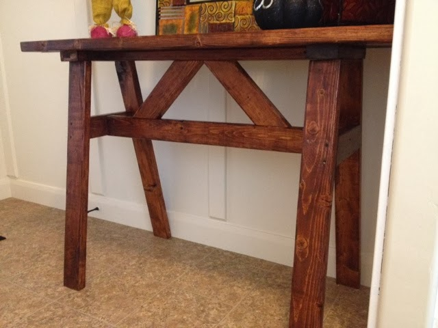 how to create custom entry way table, foyer, painted furniture, woodworking projects