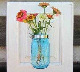 upcycle cabinet door into mason jar wall vase mason jars repurposing upcycling & Turn A Cabinet Door Into A Mason Jar Wall Vase | Hometalk