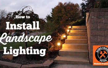 how to install landscape lighting easily, curb appeal, diy, lighting